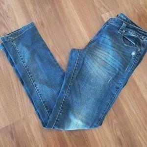 Blue Asphalt Skinny Jeans